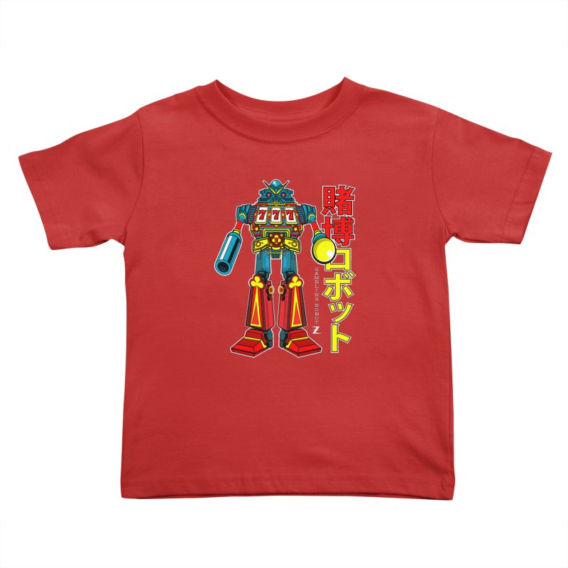Super Slot-Bot Gamblor Kids Toddler T-Shirt by Jesse Philips' Artist Shop