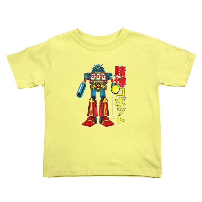Super Slot-Bot Gamblor Kids Toddler T-Shirt by Jesse Philips' Artist Shop
