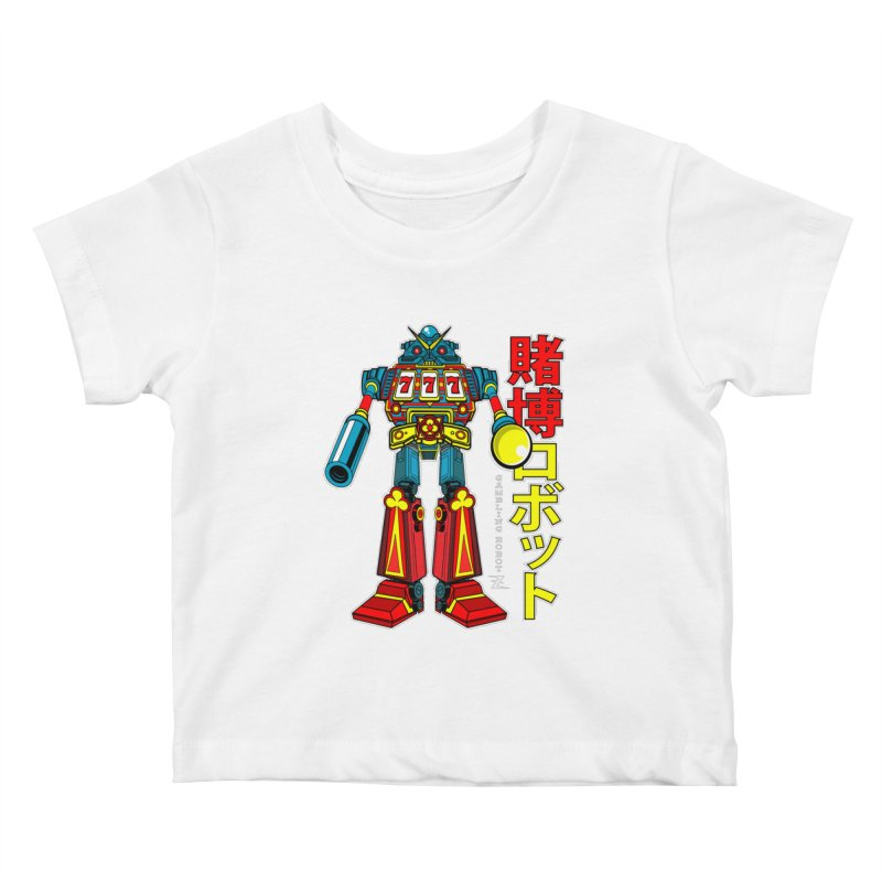 Super Slot-Bot Gamblor Kids Baby T-Shirt by Jesse Philips' Artist Shop