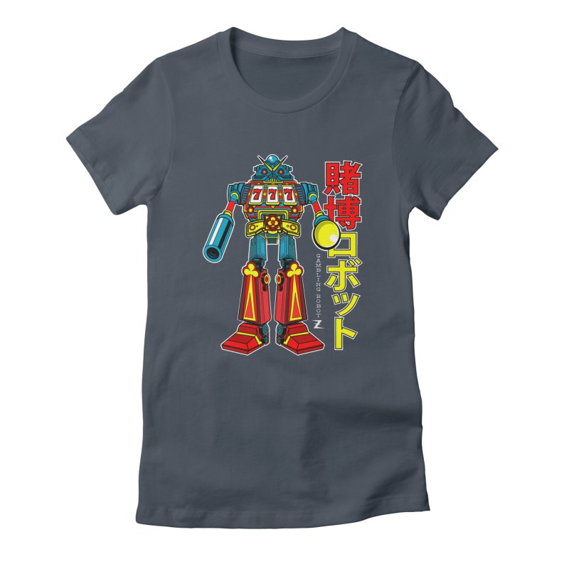 Super Slot-Bot Gamblor Women's T-Shirt by Jesse Philips' Artist Shop