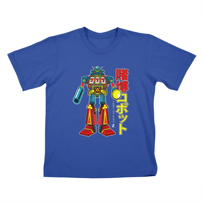 Super Slot-Bot Gamblor Kids T-Shirt by Jesse Philips' Artist Shop