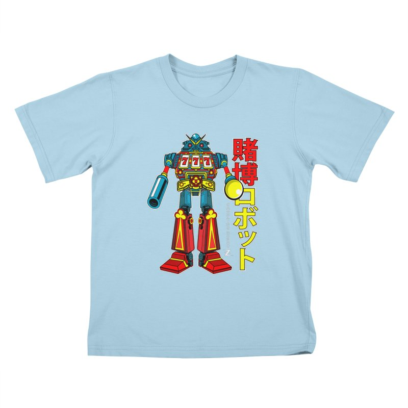 Super Slot-Bot Gamblor Kids T-Shirt by Jesse Philips' Artist Shop