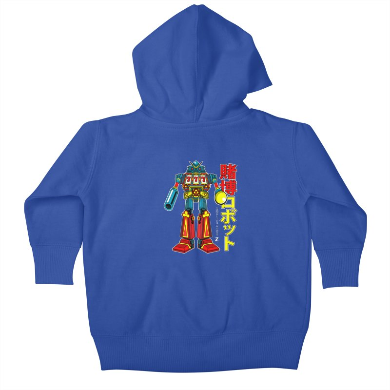 Super Slot-Bot Gamblor Kids Baby Zip-Up Hoody by Jesse Philips' Artist Shop