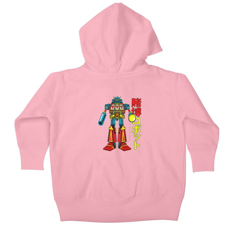 Super Slot-Bot Gamblor Kids Baby Zip-Up Hoody by Jesse Philips' Artist Shop