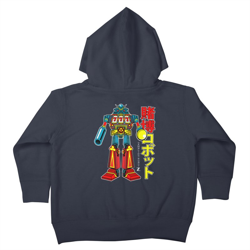 Super Slot-Bot Gamblor Kids Toddler Zip-Up Hoody by Jesse Philips' Artist Shop