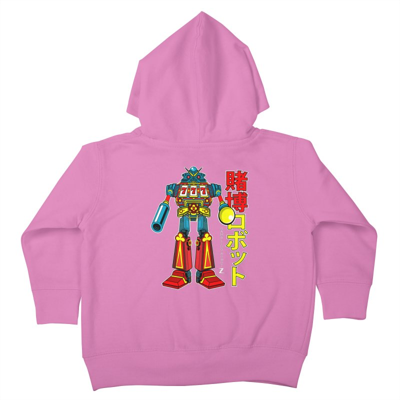 Super Slot-Bot Gamblor Kids Toddler Zip-Up Hoody by Jesse Philips' Artist Shop