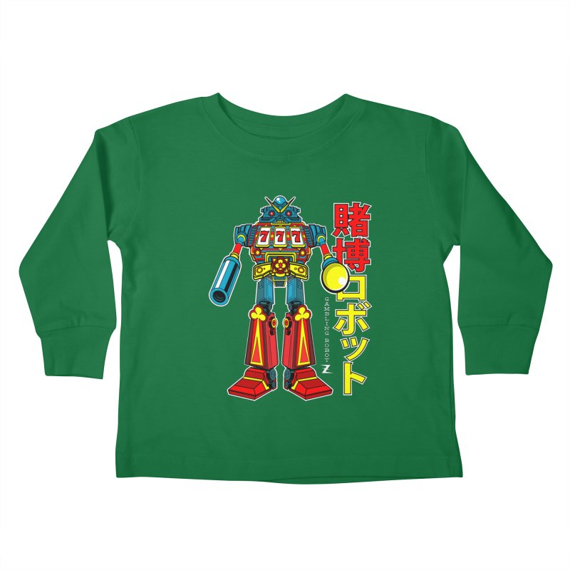 Super Slot-Bot Gamblor Kids Toddler Longsleeve T-Shirt by Jesse Philips' Artist Shop