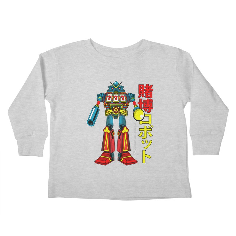 Super Slot-Bot Gamblor Kids Toddler Longsleeve T-Shirt by Jesse Philips' Artist Shop