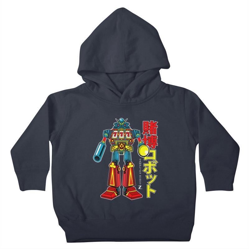 Super Slot-Bot Gamblor Kids Toddler Pullover Hoody by Jesse Philips' Artist Shop