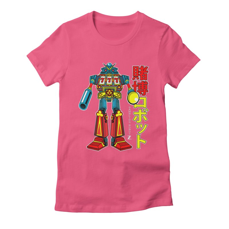 Super Slot-Bot Gamblor Women's Fitted T-Shirt by Jesse Philips' Artist Shop