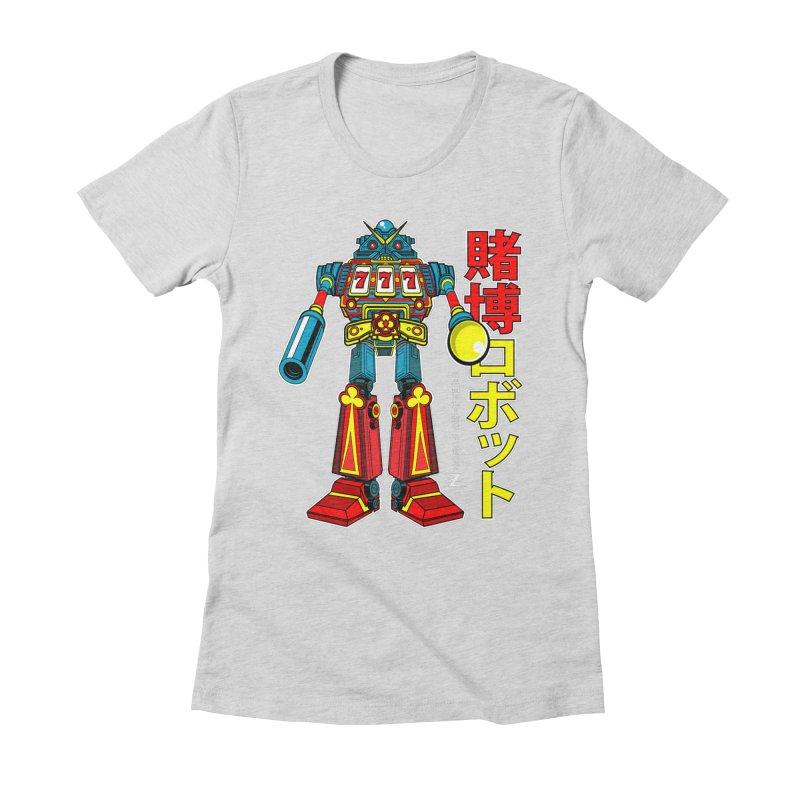 Super Slot-Bot Gamblor Women's Fitted T-Shirt by Jesse Philips' Artist Shop