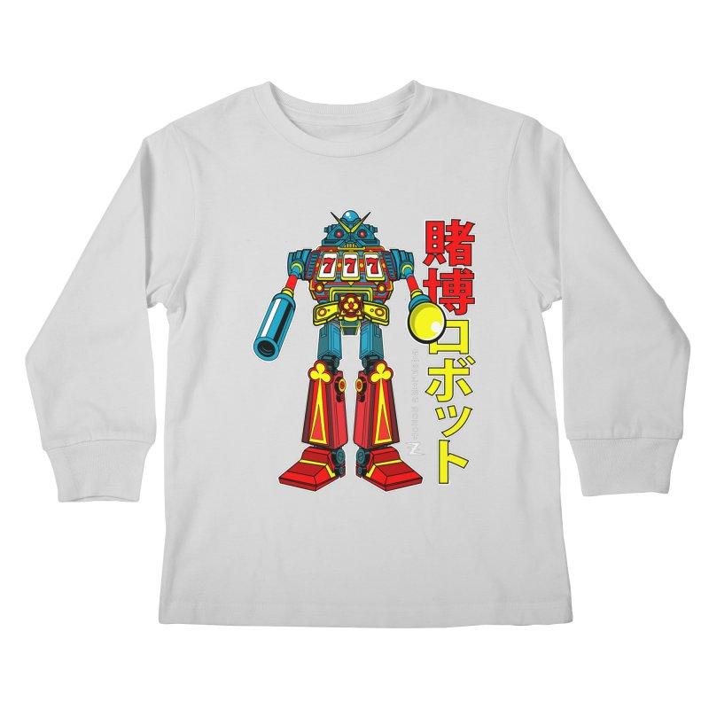 Super Slot-Bot Gamblor Kids Longsleeve T-Shirt by Jesse Philips' Artist Shop