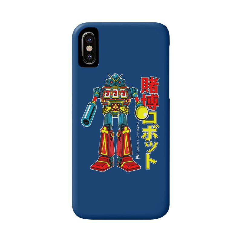 Super Slot-Bot Gamblor Accessories Phone Case by Jesse Philips' Artist Shop