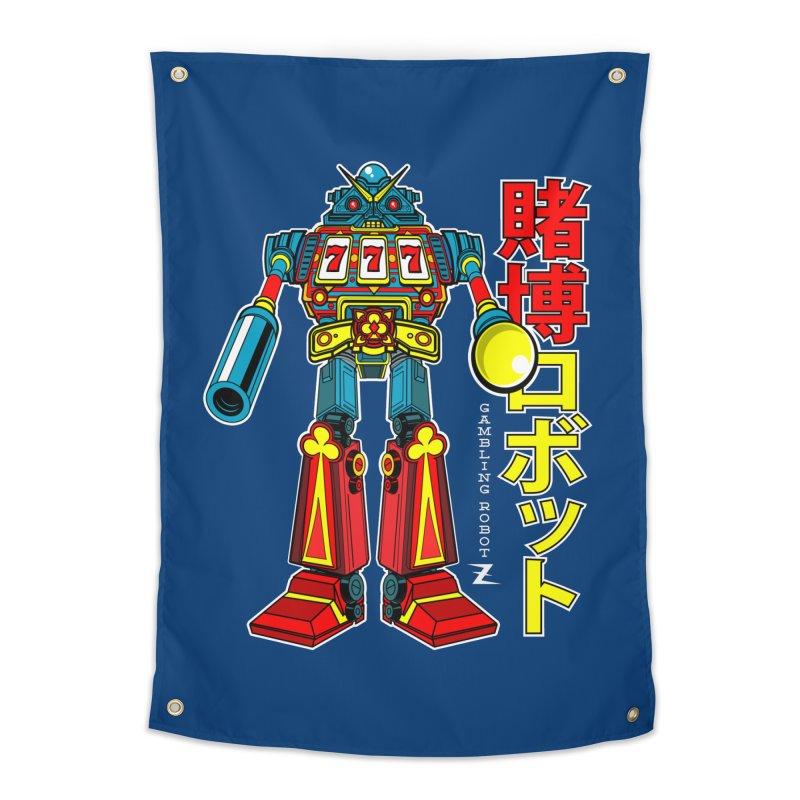 Super Slot-Bot Gamblor Home Tapestry by Jesse Philips' Artist Shop