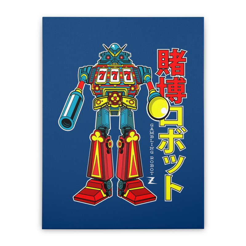 Super Slot-Bot Gamblor Home Stretched Canvas by Jesse Philips' Artist Shop