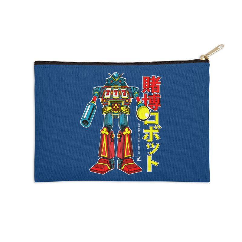 Super Slot-Bot Gamblor Accessories Zip Pouch by Jesse Philips' Artist Shop