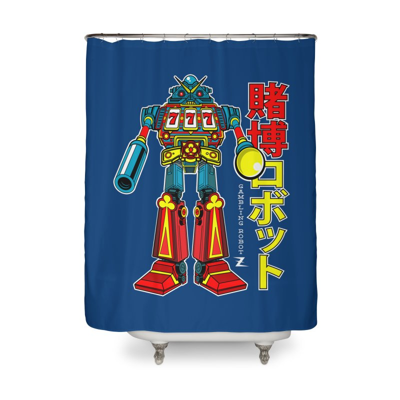 Super Slot-Bot Gamblor Home Shower Curtain by Jesse Philips' Artist Shop