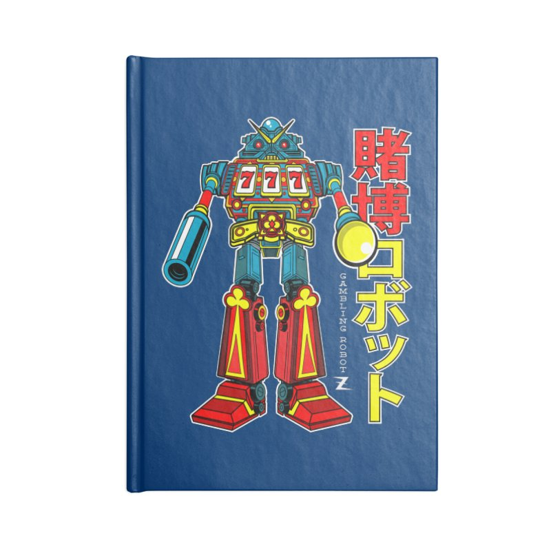 Super Slot-Bot Gamblor Accessories Lined Journal Notebook by Jesse Philips' Artist Shop