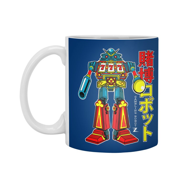 Super Slot-Bot Gamblor Accessories Standard Mug by Jesse Philips' Artist Shop