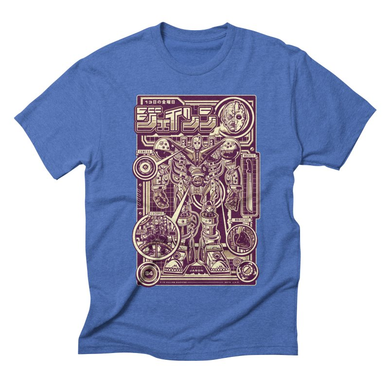 F-13 Robo-Jason Men's Triblend T-shirt by Jesse Philips' Artist Shop