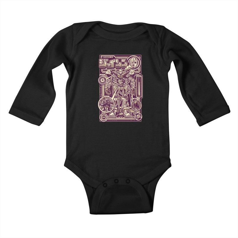 F-13 Robo-Jason Kids Baby Longsleeve Bodysuit by Jesse Philips' Artist Shop