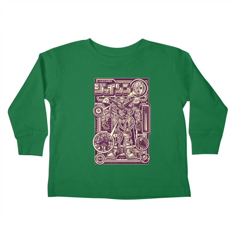 F-13 Robo-Jason Kids Toddler Longsleeve T-Shirt by Jesse Philips' Artist Shop
