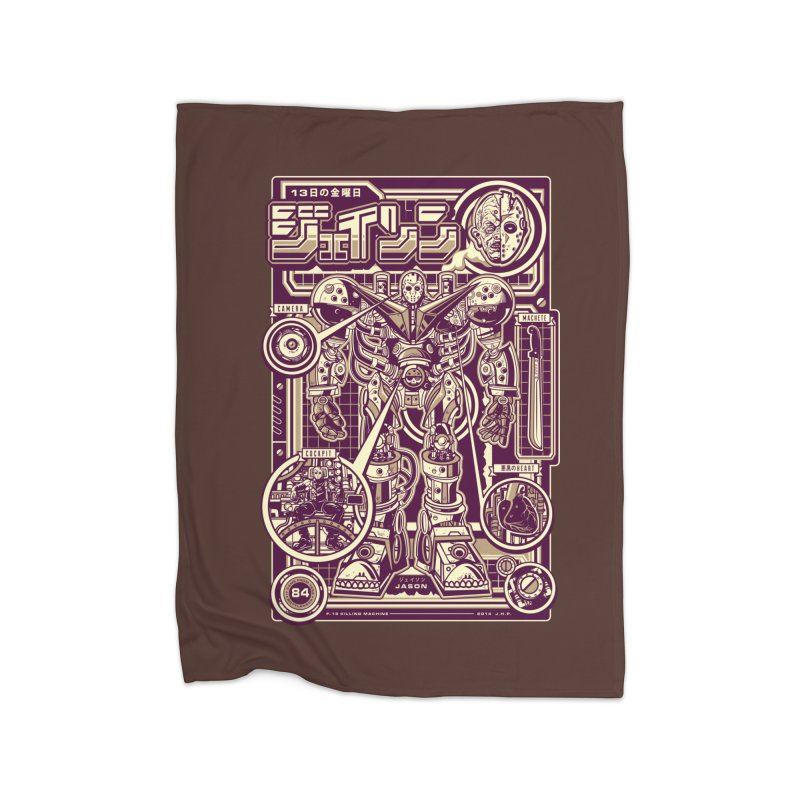 F-13 Robo-Jason Home Fleece Blanket by Jesse Philips' Artist Shop
