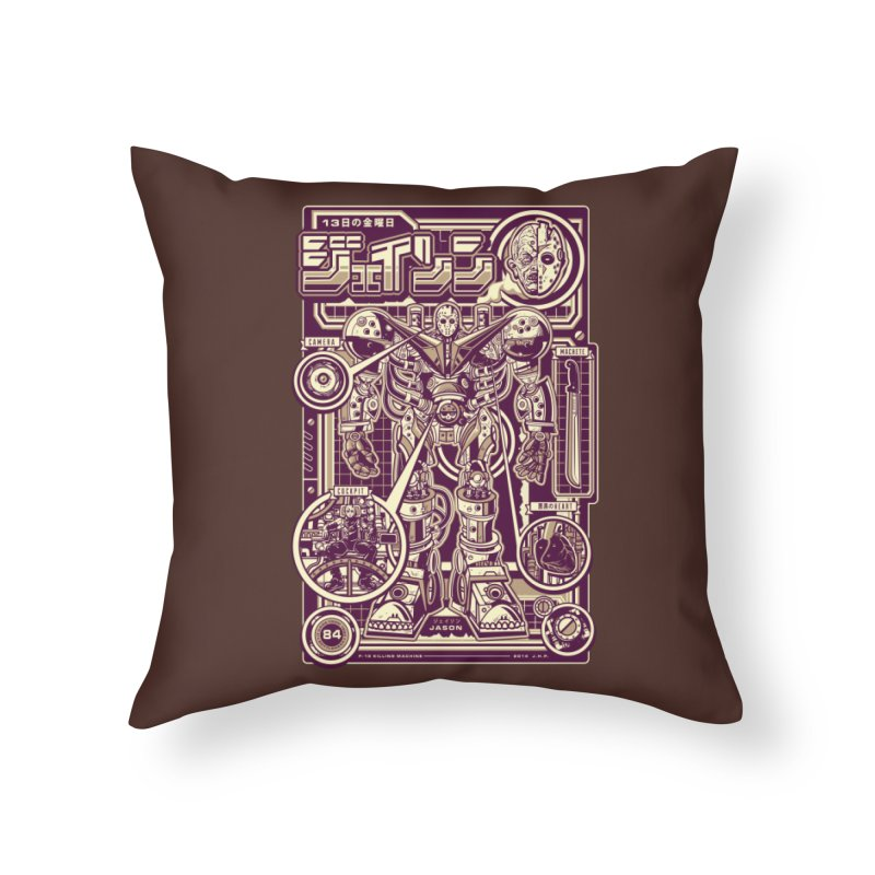 F-13 Robo-Jason Home Throw Pillow by Jesse Philips' Artist Shop