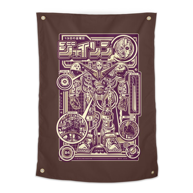 F-13 Robo-Jason Home Tapestry by Jesse Philips' Artist Shop