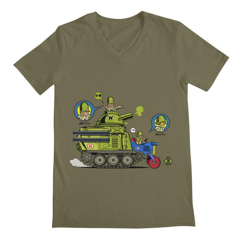 Army Surplus Extra Special Men's V-Neck by Jesse Philips' Artist Shop