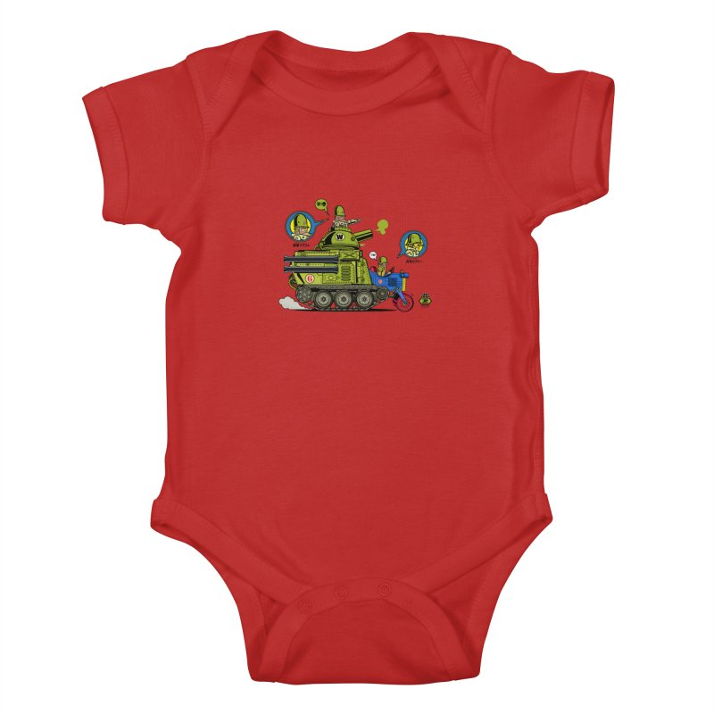 Army Surplus Extra Special Kids Baby Bodysuit by Jesse Philips' Artist Shop