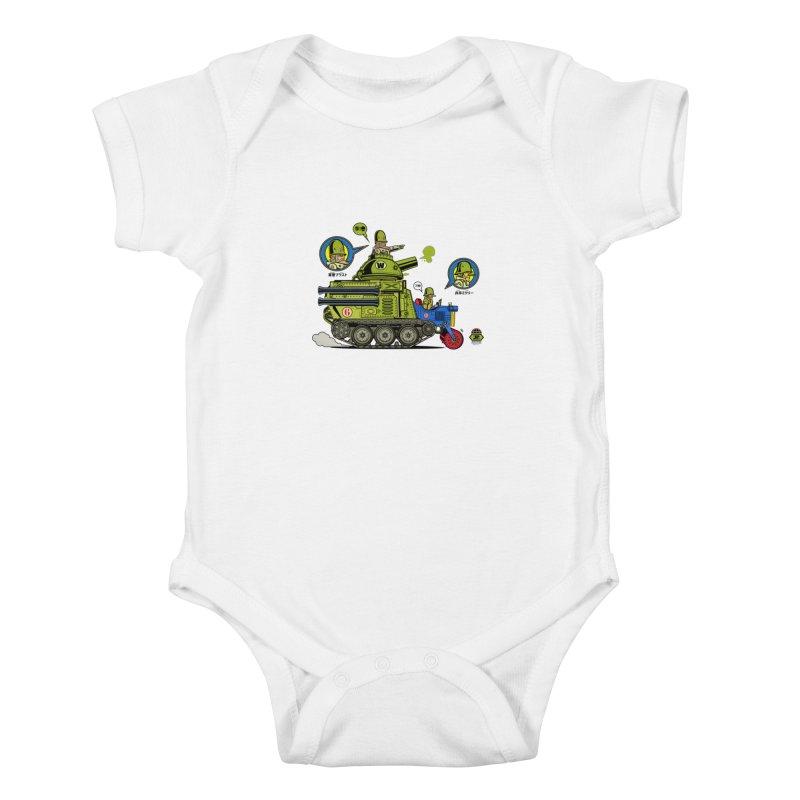 Army Surplus Extra Special Kids Baby Bodysuit by Jesse Philips' Artist Shop