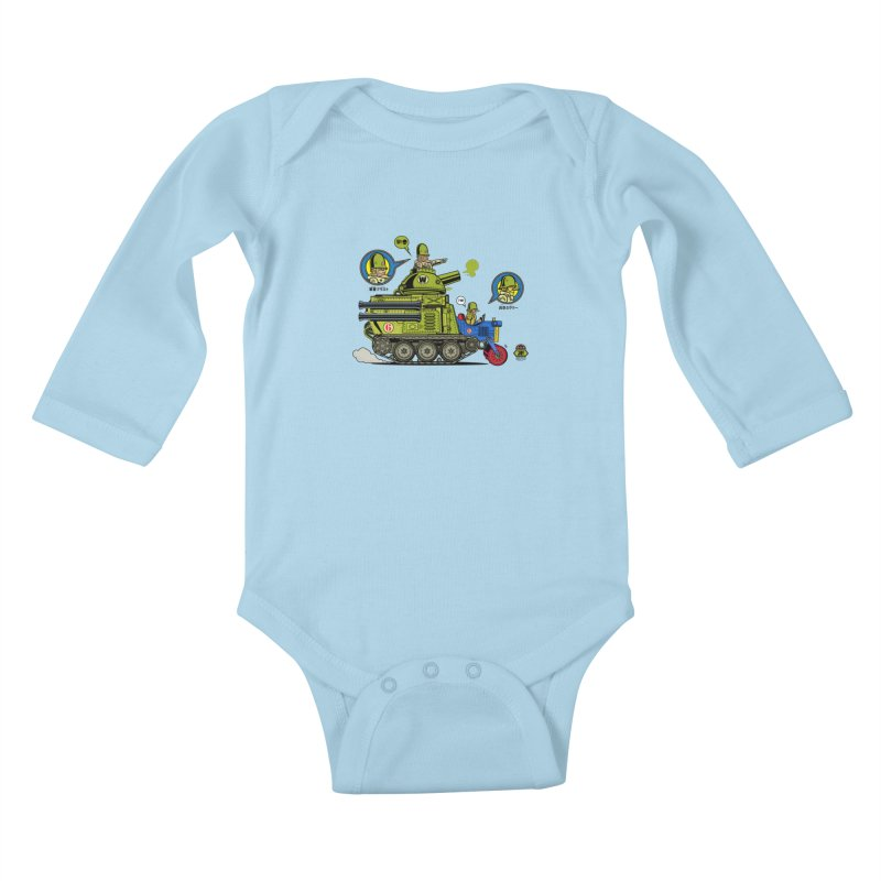 Army Surplus Extra Special Kids Baby Longsleeve Bodysuit by Jesse Philips' Artist Shop