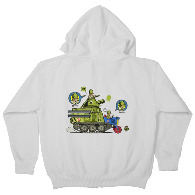 Army Surplus Extra Special Kids Zip-Up Hoody by Jesse Philips' Artist Shop