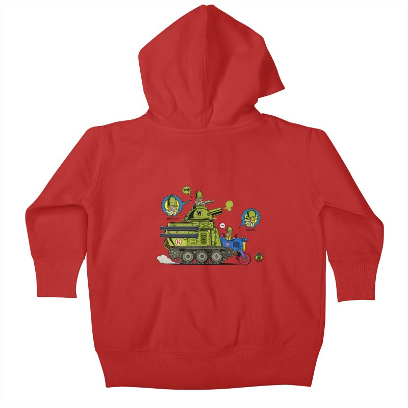 Army Surplus Extra Special Kids Baby Zip-Up Hoody by Jesse Philips' Artist Shop