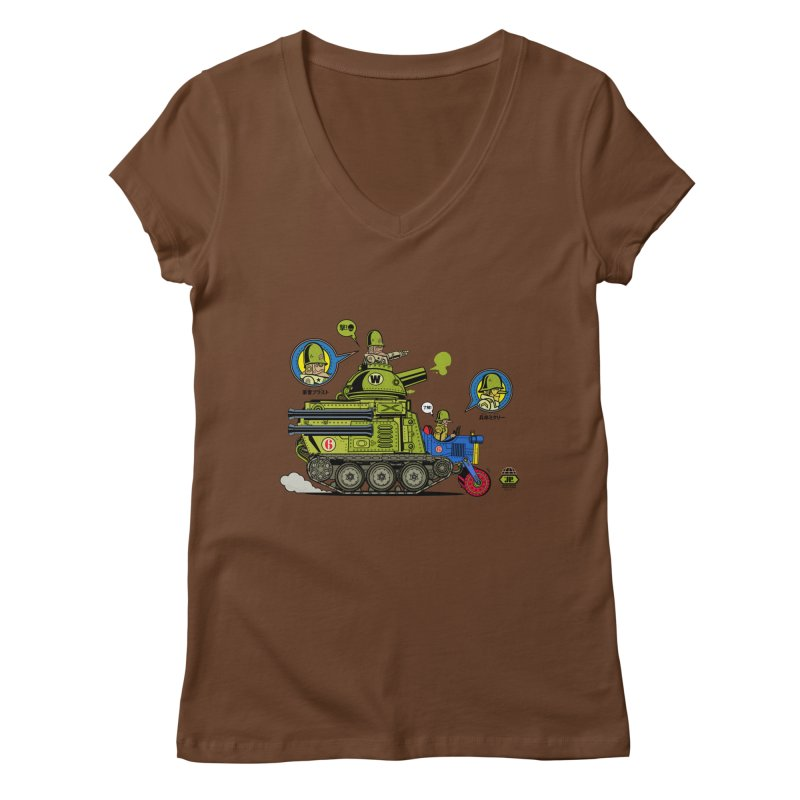 Army Surplus Extra Special Women's V-Neck by Jesse Philips' Artist Shop