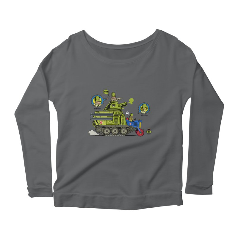 Army Surplus Extra Special Women's Longsleeve Scoopneck  by Jesse Philips' Artist Shop