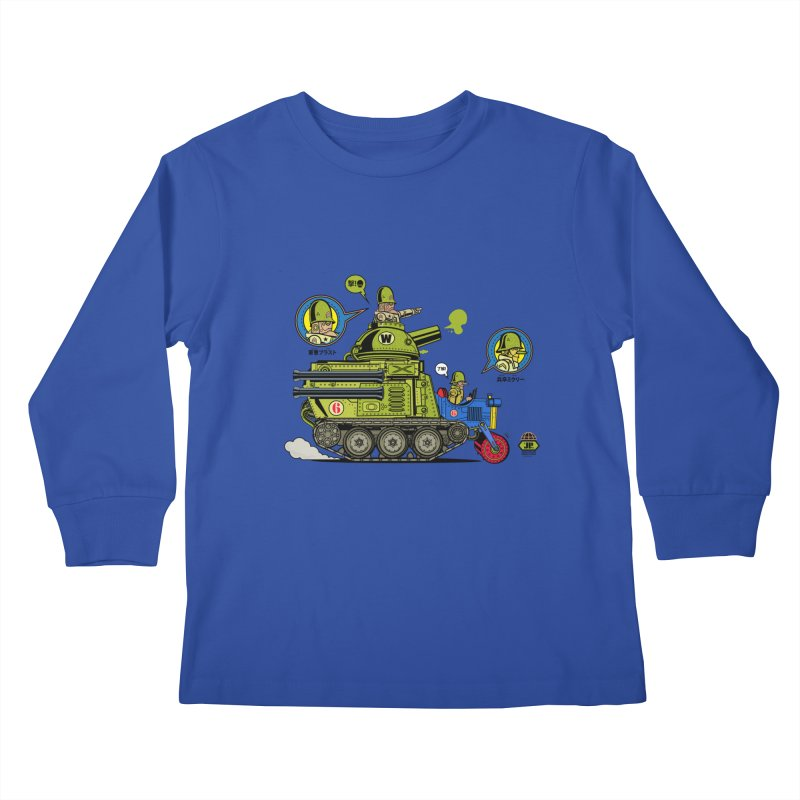 Army Surplus Extra Special Kids Longsleeve T-Shirt by Jesse Philips' Artist Shop