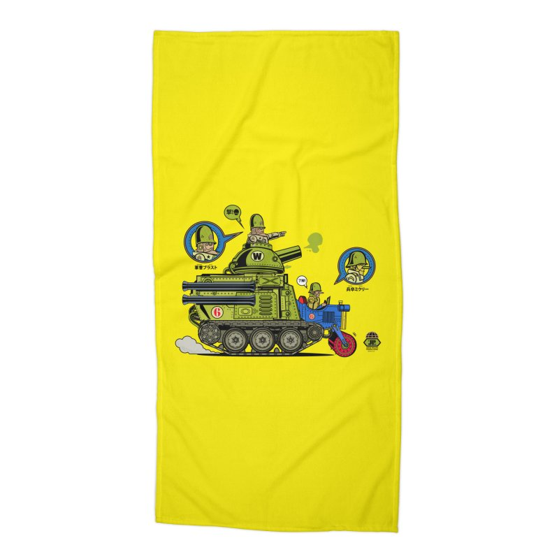 Army Surplus Extra Special Accessories Beach Towel by Jesse Philips' Artist Shop