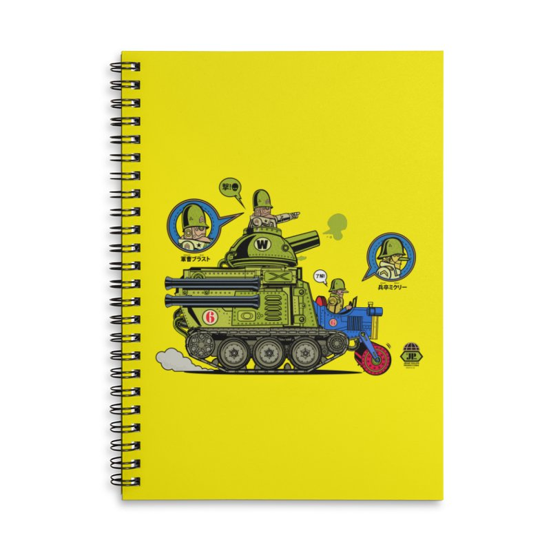 Army Surplus Extra Special Accessories Lined Spiral Notebook by Jesse Philips' Artist Shop