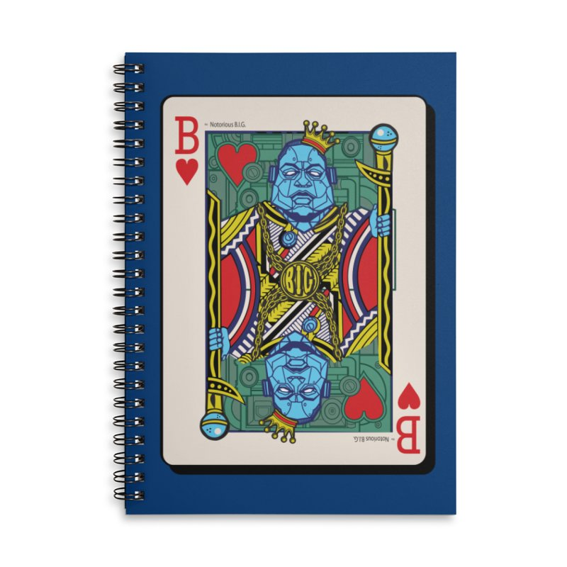 Notorious Accessories Lined Spiral Notebook by Jesse Philips' Artist Shop