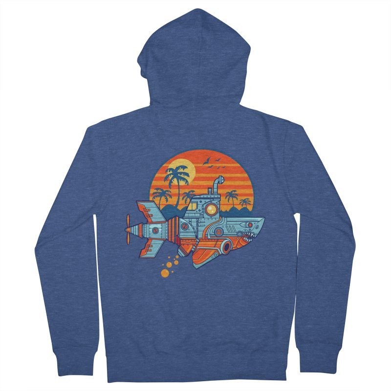 ROBOSHARK  Men's Zip-Up Hoody by Jesse Philips' Artist Shop
