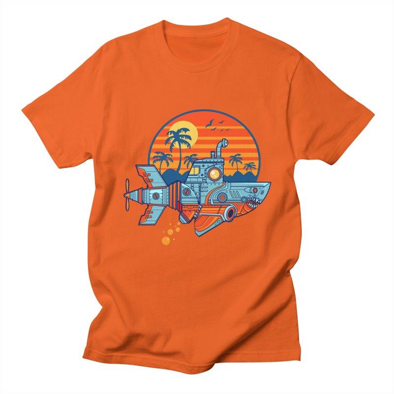 ROBOSHARK  Men's T-Shirt by Jesse Philips' Artist Shop