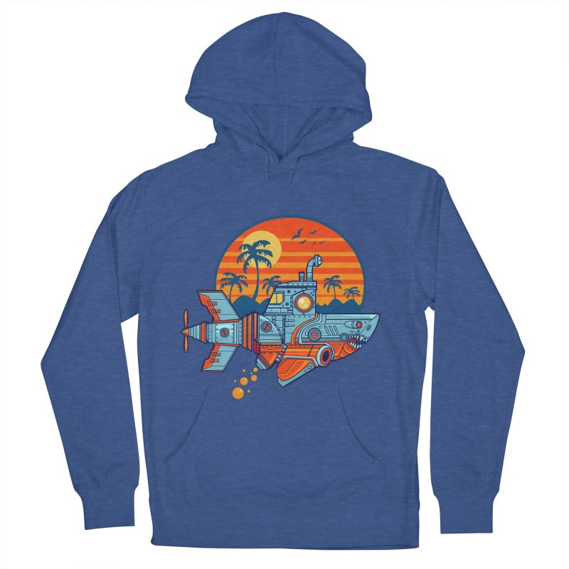 ROBOSHARK  Men's French Terry Pullover Hoody by Jesse Philips' Artist Shop
