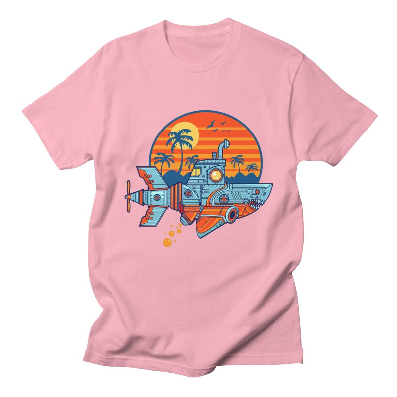 ROBOSHARK  Men's Regular T-Shirt by Jesse Philips' Artist Shop