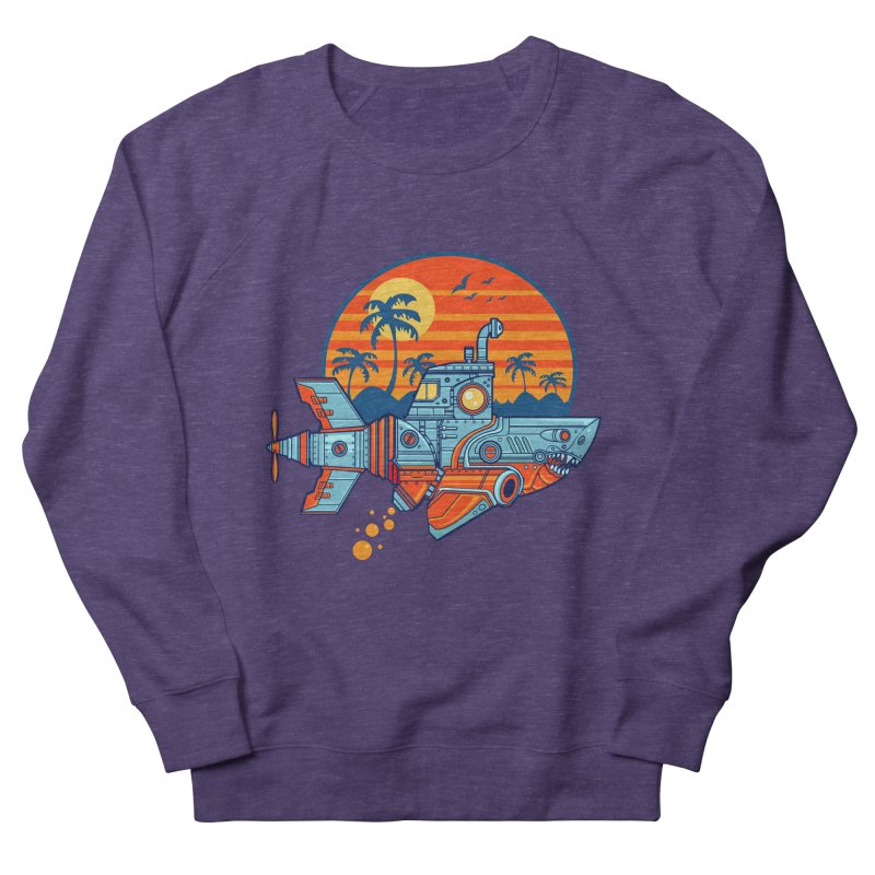 ROBOSHARK  Men's Sweatshirt by Jesse Philips' Artist Shop