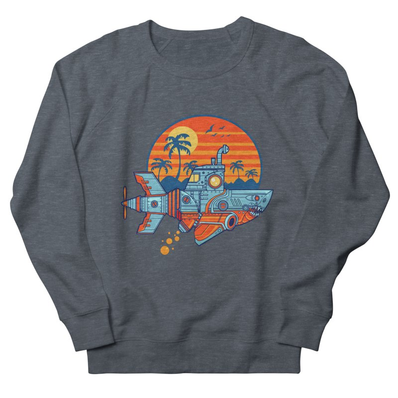 ROBOSHARK  Men's Sweatshirt by Jesse Philips' Artist Shop