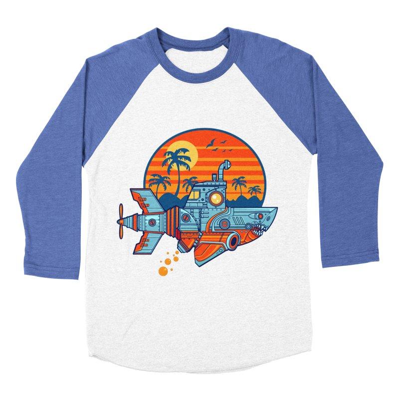 ROBOSHARK  Women's Baseball Triblend T-Shirt by Jesse Philips' Artist Shop