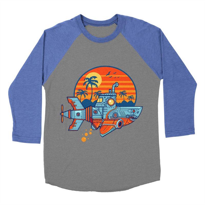 ROBOSHARK  Men's Baseball Triblend Longsleeve T-Shirt by Jesse Philips' Artist Shop