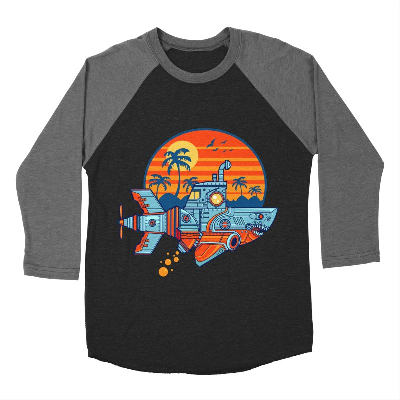 ROBOSHARK  Men's Longsleeve T-Shirt by Jesse Philips' Artist Shop